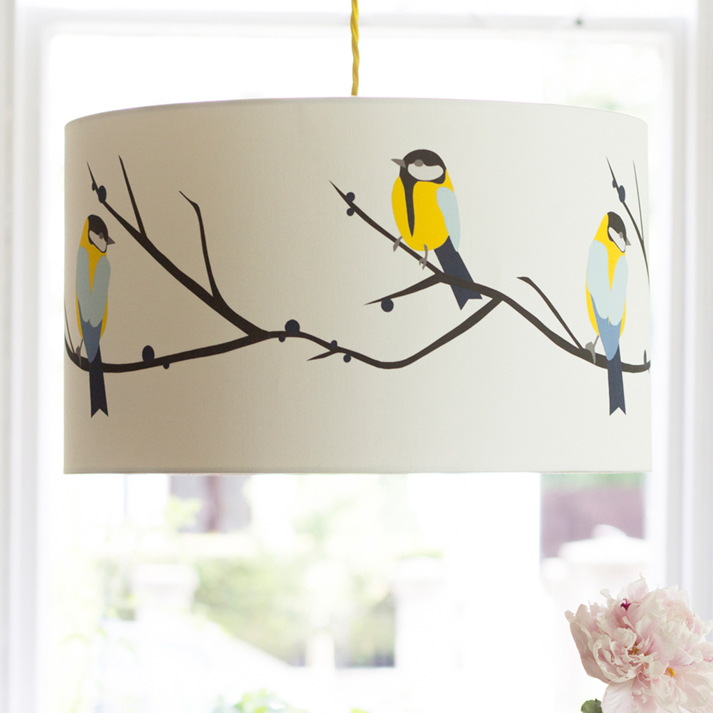 Juneberry and bird lampshade the decor cafe interiors gardens juneberry and bird lampshade mozeypictures Choice Image