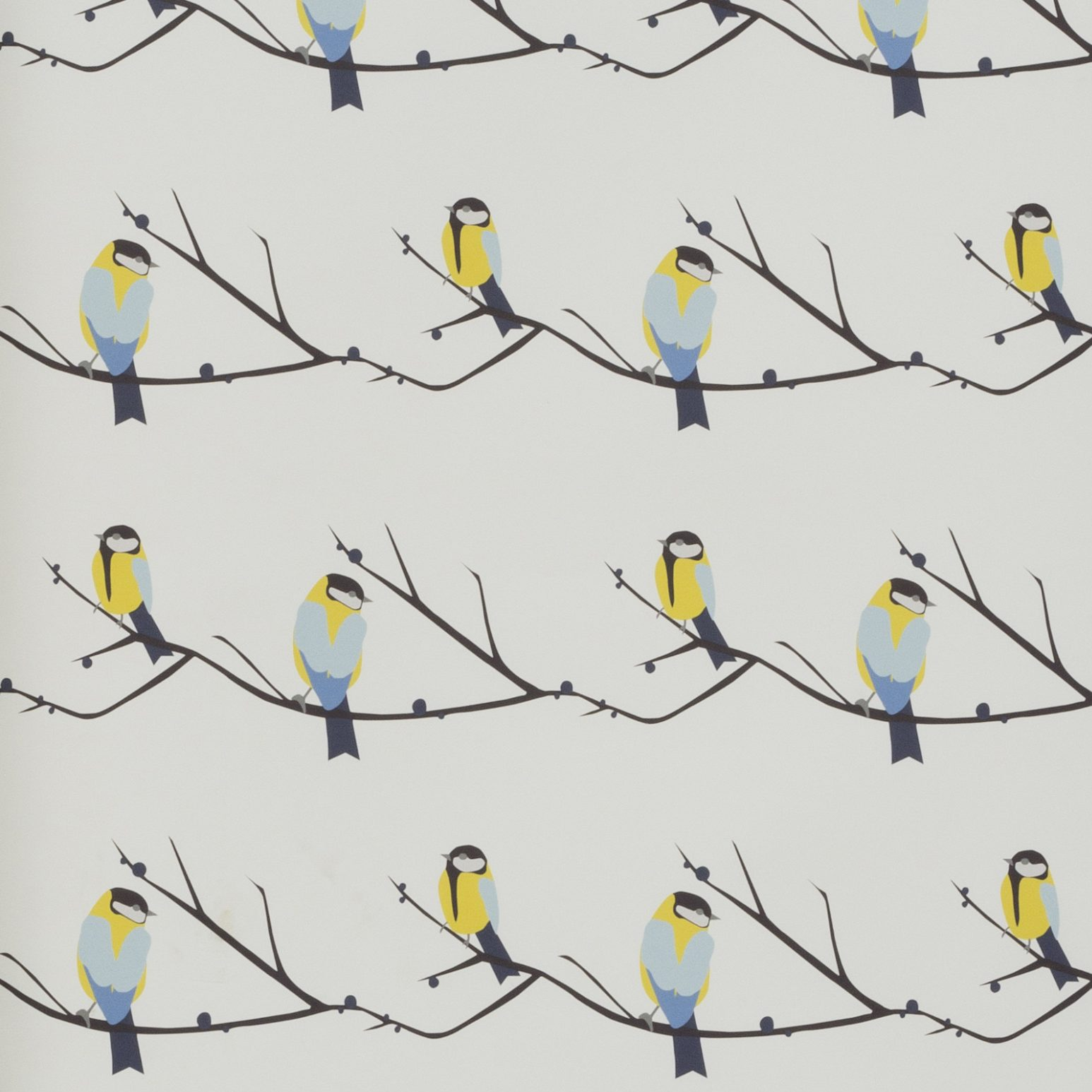 Juneberry & Bird Wallpaper by Lorna Syson Availabel from The Decorcafe Shop