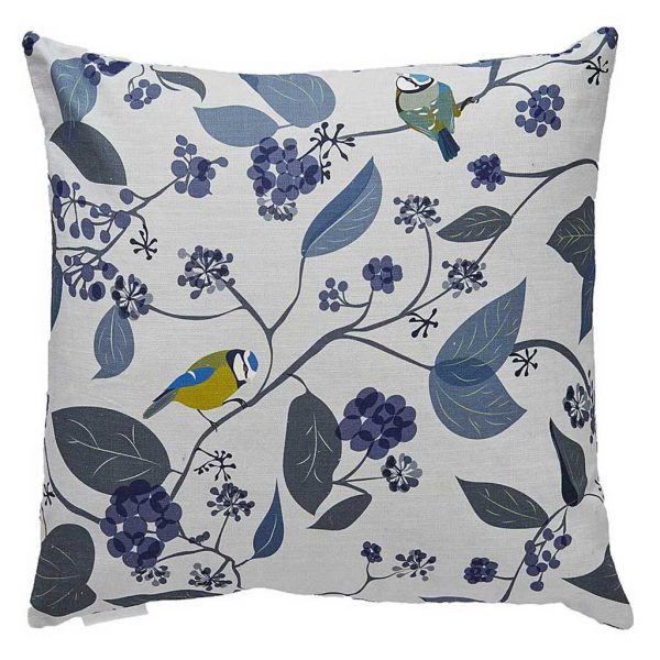 Spring Ivy Blue Cushion by Lorna Syson available at The Decorcafe Shop