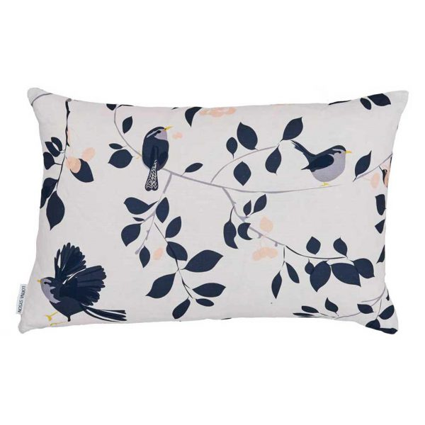 Wren & Cherry Cushion by Lorna Syson available from The Decorcafe Shop