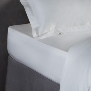 Bamboo Fitted Sheet in natural White by All bamboo and available at The Decorcafe Shop