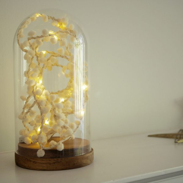 PomPom Fairy Lights in Soft White by Melanie Porter available at The Decorcafe Shop
