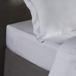 Bamboo Fitted Sheet in Pure White by All Bamboo Available at The Decorcafe Shop