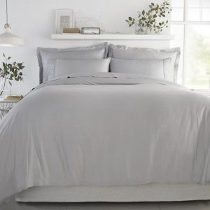 Duvet Cover in Soft Grey by All Bamboo available at The Decorcafe Shop