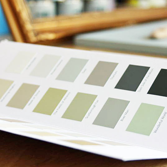 Paint the Town Green Full Paint Colour Chart Available at The Decorcafe
