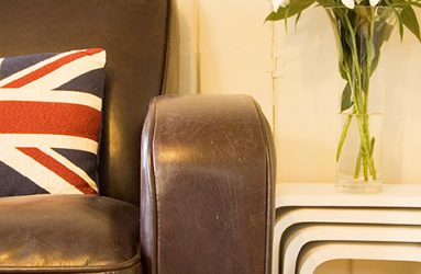 Jane Lee's leather armchair