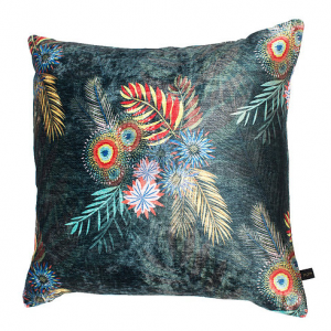Nature's Way Bouquet Cushion 45 x 45 cms by Rebecca J Mills at The Decorcafe