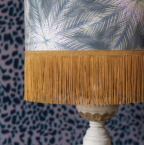 Nature's Way Breeze Fringed Lampshade by Rebecca J Mills available at The Decorcafe