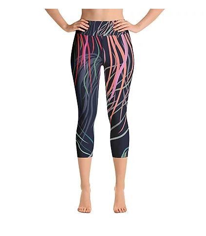 Grassed Leggings Yoga Capri Length Front