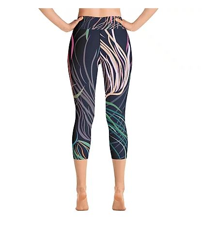 Grassed Legggings Yoga Capri Length Rear