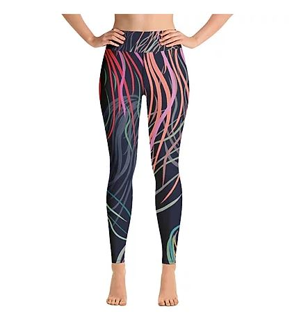 Grassed Leggings Yoga Full Length Front