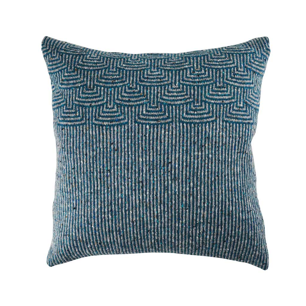 Pebble Teal & Grey Striped Cushion by Craft Editions available from The Decorcafe Shop