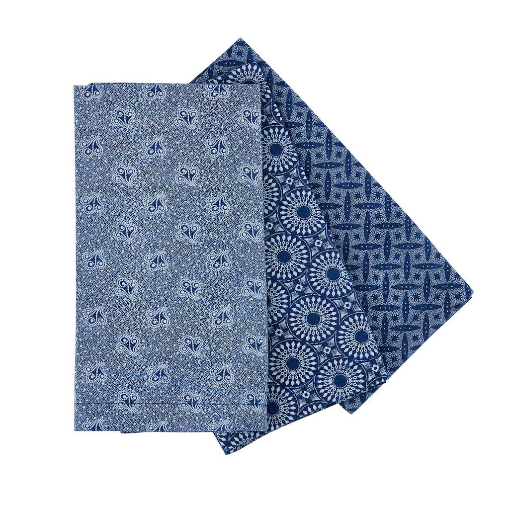 ShweShwe Set of 6 Napkins in Indigo by Craft Editions available online at The Decorcafe