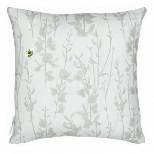 Broom & Bee Dusk Cushion by Lorna Syson available from The Decorcafe Shop