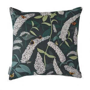 Buddleia Cushion by Lorna Syson available at The Decorcafe