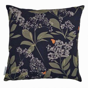 Buds & Butterflies Cushion by Lorna Syson available from The Decorcafe Shop