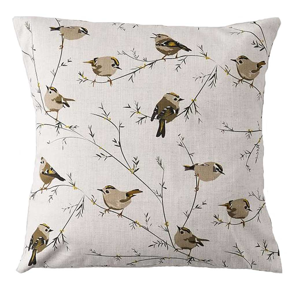 Goldcrest Cushion by Lorna Syson available from The Decorcafe Shop