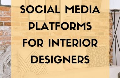 Fiona Mostyn, my deco Marketing, 4 Best Social Media Platforms for Interior Designers