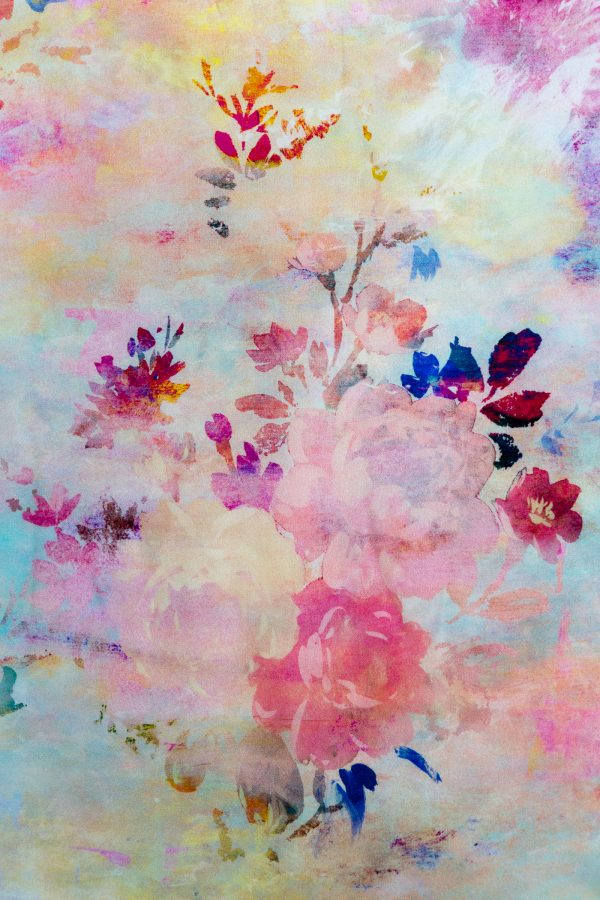 Fleeting Magnificence Floral Silk Scarf by Salon Libertine Detail Available at The Decorcafe Shop