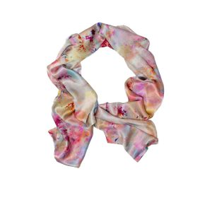 Fleeting Magnificence Floral Silk Scarf by Salon Libertine Available at The Decorcafe Shop