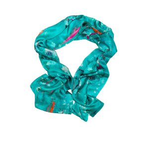 Perfumes of the Night Floral Silk Scarf in Matisse Green by Salon Libertine available at The Decorcafe Shop