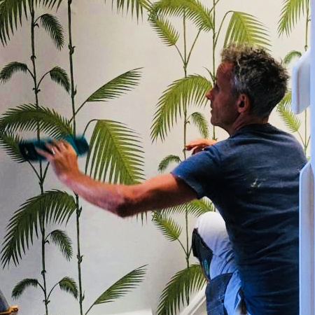Carl Ferri papering palm design wallpaper
