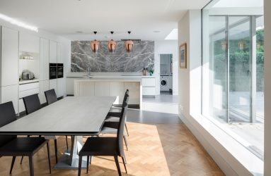 Malone Architecture Kitchen with copper lights