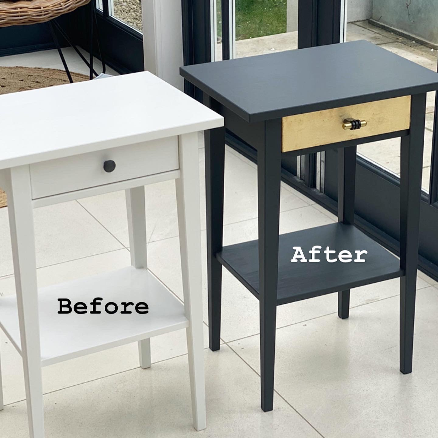 Ikea Hennes Table Hack Before & After