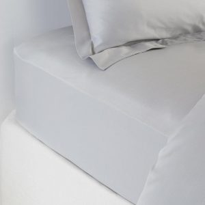 Bamboo Fitted Sheet Soft Grey by All Bamboo and available at The Decorcafe Shop