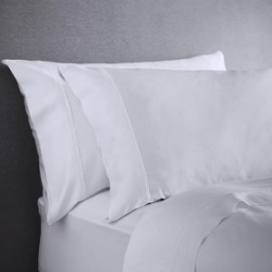 Bamboo Set of 2 Housewife Pillowcases in Pure White Available a The Decorcafe Shop