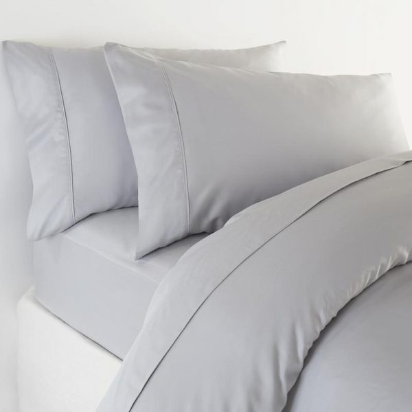 Bamboo Set of 2 Housewife Pillowcases in Soft Grey by All bamboo and available at The Decorcafe Shop