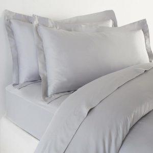 All Bamboo Set of 2 Oxford Pillow Cases in Soft Grey by All Bamboo and available at The Decorcafe Shop