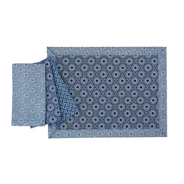 ShweShwe Placemat in Indigo by Craft Editions available from The Decorcafe Shop