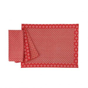ShweShwe Placemat in Red by Craft Editions available from The Decorcafe Shop