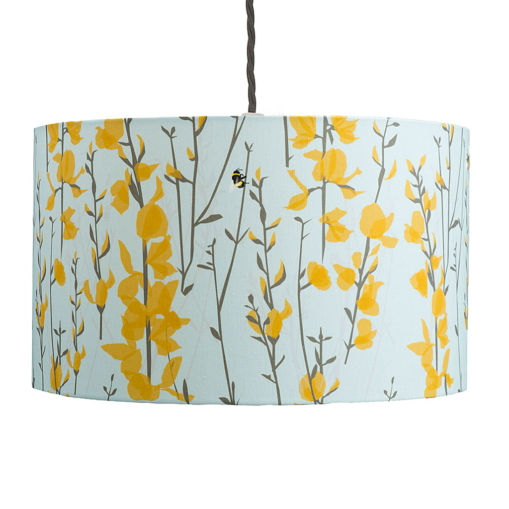 Broom & Bee Sky Lampshade by Lorna Syson available at The Decorcafe Shop
