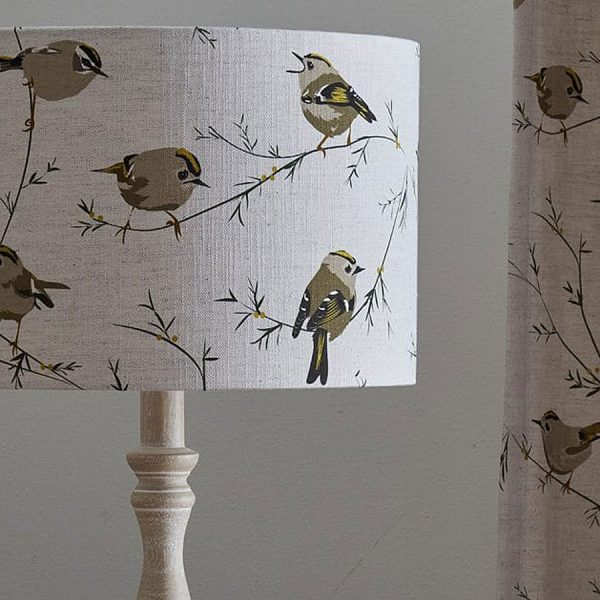 Goldcrest Lampshade by Lorna Syson Available at The Decorcafe Shop