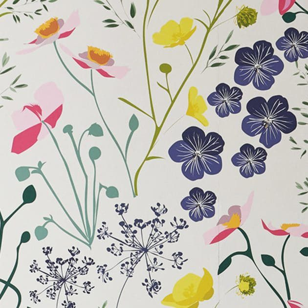 Meadow Wallpaper by Lorna Syson available from The Decorcafe Shop