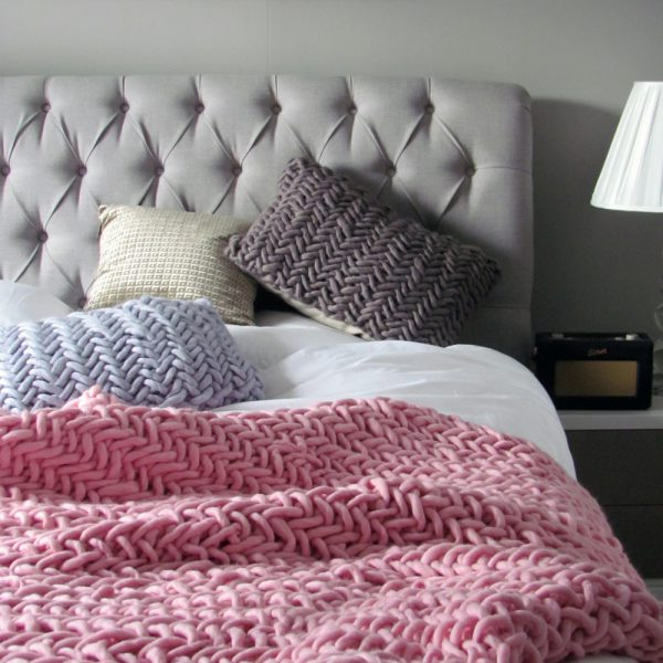 Alice Magnus Throw in Blush by Melanie Porter and available at The Decorcafe Shop