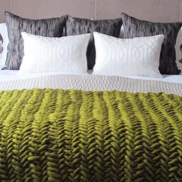 Alice Magnus Throw in moss by Melanie Porter and available at The Decorcafe Shop