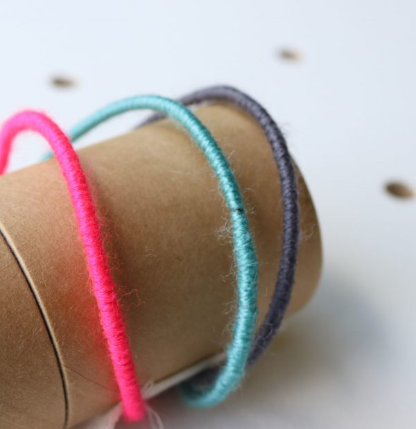 Personalised PomPom Fairy Light Hoop writing colours by Melanie Porter available at The Decorcafe