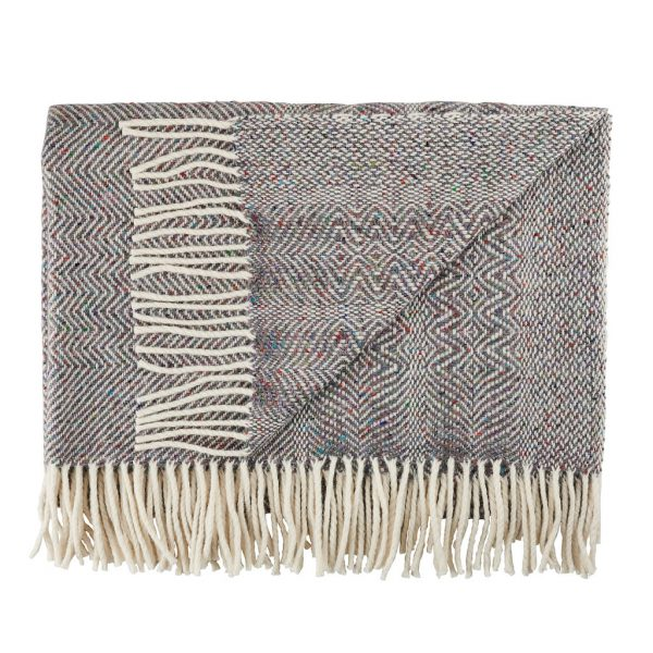 Donegal Twill Throw in Fossil by Craft Editions at The Decorcafe Cut out image