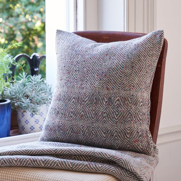 Donegal Twill Cushion in Fossil by Craft Editions available at The Decorcafe lifestyle Image