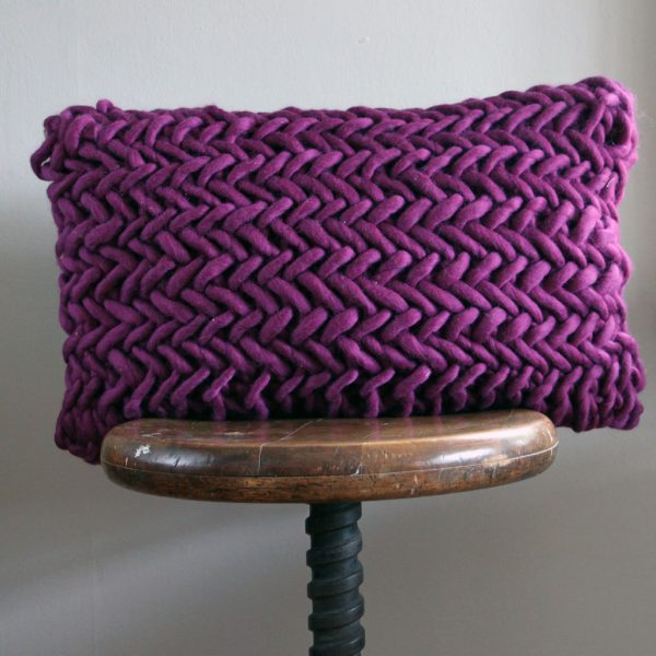 Alice Porto Cushion in Amethyst by Melanie Porter and available at The Decorcafe Shop