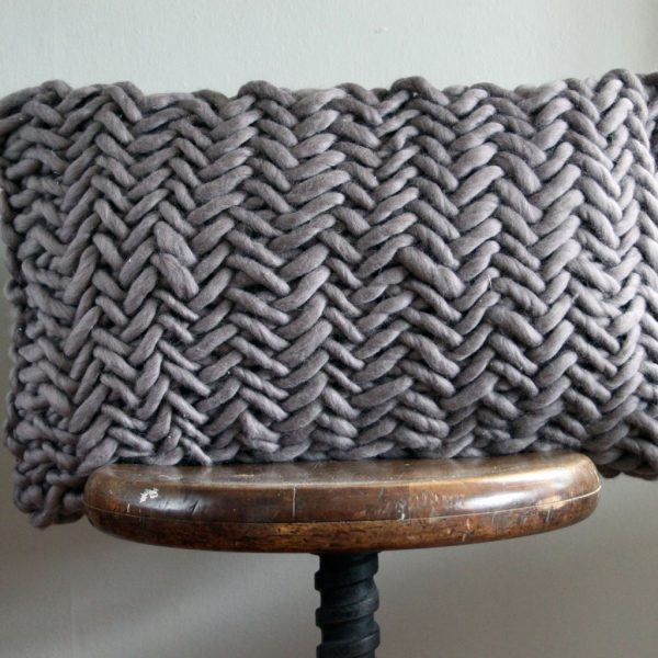 Alice Porto Cushion in Mink Grey by Melanie Porter and available at The Decorcafe Shop