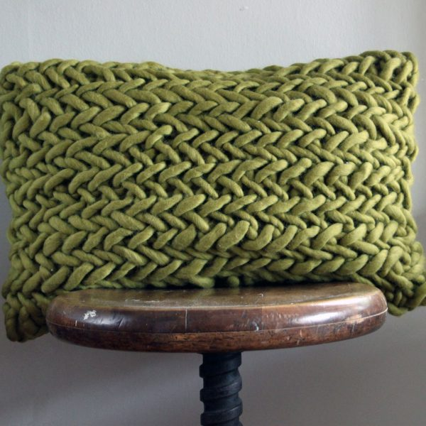 Alice Porto Cushion in Moss Green by Melanie Porter and available at The Decorcafe Shop