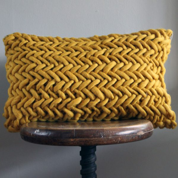 Alice Porto Cushion in Mustard by Melanie Porter and available at The Decorcafe Shop