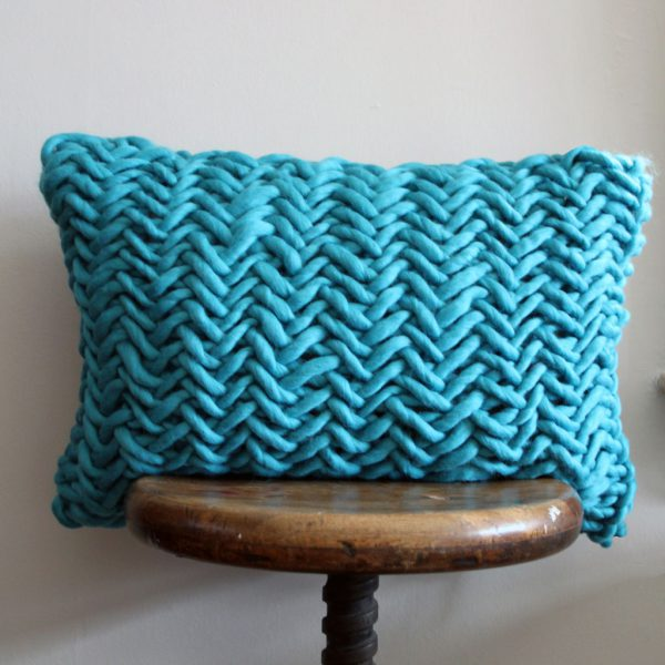 Alice Porto Cushion in Peacock Blue by Melanie Porter and available at The Decorcafe Shop