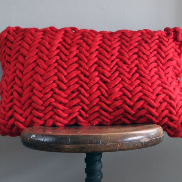 Alice Porto Cushion in Red by Melanie Porter and available at The Decorcafe Shop