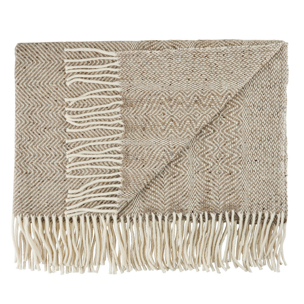Donegal Twill Throw in Oatmeal by Craft Eidtions at The Decorcafe