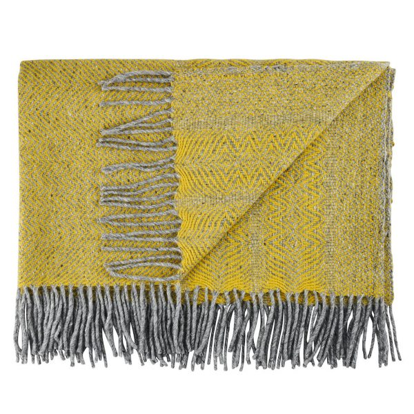 Donegal Twill Throw in Primrose by Craft Edtions at The Decorcafe